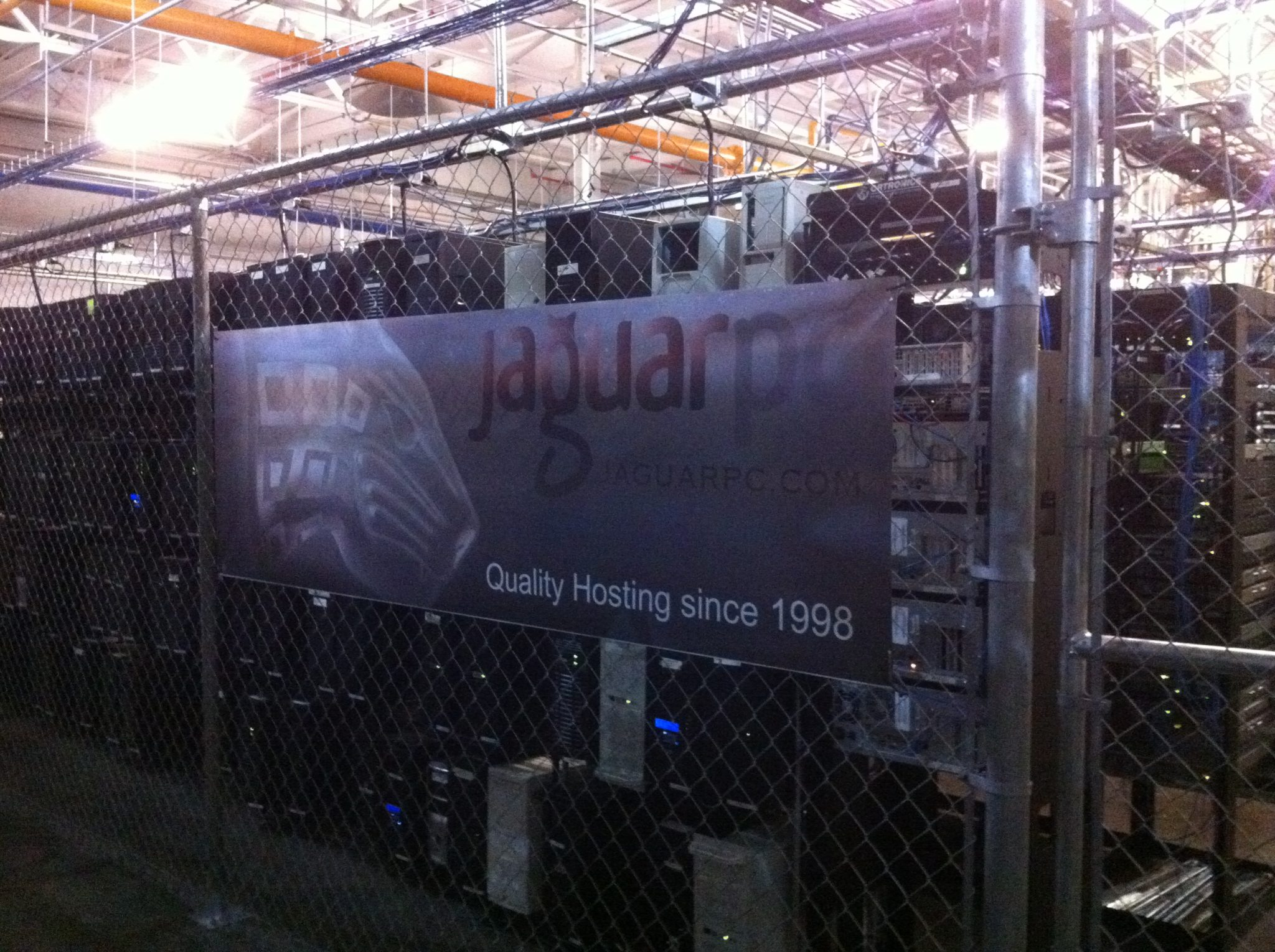 JaguarPC Data Center Server Cage