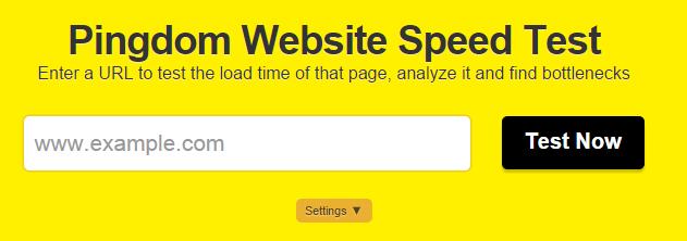 Pingdom Page Speed